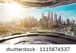 futuristic interior design...   Shutterstock . vector #1115876537