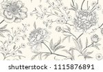 floral vintage seamless pattern ... | Shutterstock .eps vector #1115876891