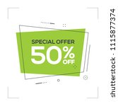 special offer 50  off concept | Shutterstock .eps vector #1115877374