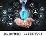 ar virtual screen dashboard... | Shutterstock . vector #1115879075