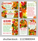 autumn label and thanksgiving... | Shutterstock .eps vector #1115880044