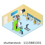 isometric tv program making... | Shutterstock .eps vector #1115881331