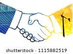 green energy business.concept... | Shutterstock . vector #1115882519