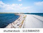 alternative energy   a row of... | Shutterstock . vector #1115884055