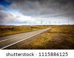 farm wind in faroe island | Shutterstock . vector #1115886125
