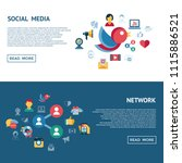 digital vector social media and ... | Shutterstock .eps vector #1115886521