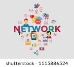digital vector social media and ... | Shutterstock .eps vector #1115886524