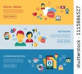 digital vector social media and ... | Shutterstock .eps vector #1115886527