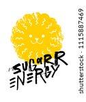 sugar energy slogan graphic ... | Shutterstock .eps vector #1115887469