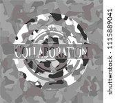 collaboration on grey camo... | Shutterstock .eps vector #1115889041