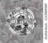 knowledge on grey camo pattern | Shutterstock .eps vector #1115889089