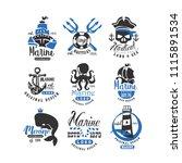 nautical logo original design... | Shutterstock .eps vector #1115891534