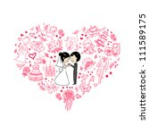 wedding invitation | Shutterstock .eps vector #111589175