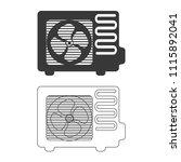 air conditioner vector  icon. | Shutterstock .eps vector #1115892041