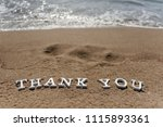 thank you words written on the... | Shutterstock . vector #1115893361