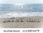 thank you words written on the... | Shutterstock . vector #1115893379
