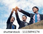 group of asia business people... | Shutterstock . vector #1115894174