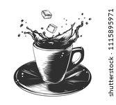 engraved style illustration for ... | Shutterstock . vector #1115895971