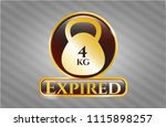 golden badge with 4kg... | Shutterstock .eps vector #1115898257