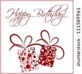 happy birthday card | Shutterstock .eps vector #111589961