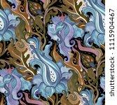 abstract flower. hand drawn... | Shutterstock . vector #1115904467
