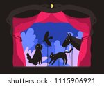 rod shadow puppets manipulated... | Shutterstock .eps vector #1115906921