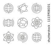 globe icons set. social network ... | Shutterstock .eps vector #1115908331