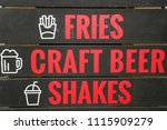red text on the blackboard   ...   Shutterstock . vector #1115909279
