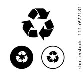recycled symbol icon set.vector ... | Shutterstock .eps vector #1115922131