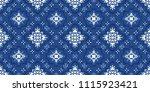 talavera pattern.  azulejos... | Shutterstock .eps vector #1115923421