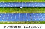 solar panels in aerial view | Shutterstock . vector #1115925779