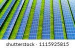 solar panels in aerial view | Shutterstock . vector #1115925815
