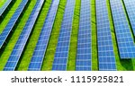 solar panels in aerial view | Shutterstock . vector #1115925821