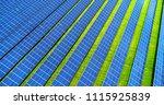 solar panels in aerial view | Shutterstock . vector #1115925839
