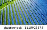 solar panels in aerial view | Shutterstock . vector #1115925875