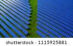 solar panels in aerial view | Shutterstock . vector #1115925881