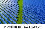 solar panels in aerial view | Shutterstock . vector #1115925899