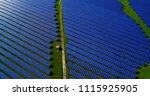 solar panels in aerial view | Shutterstock . vector #1115925905