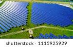 solar panels in aerial view | Shutterstock . vector #1115925929