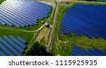solar panels in aerial view | Shutterstock . vector #1115925935