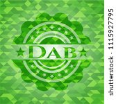 dab realistic green emblem.... | Shutterstock .eps vector #1115927795