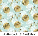turquoise and gold abstract... | Shutterstock .eps vector #1115933375