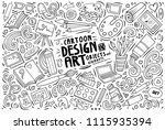 line art vector hand drawn... | Shutterstock .eps vector #1115935394