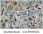 colorful vector hand drawn... | Shutterstock .eps vector #1115935421