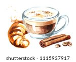 coffee cappuccino with... | Shutterstock . vector #1115937917