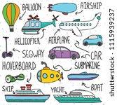 vector hand drawn doodle set... | Shutterstock .eps vector #1115939237