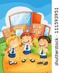 illustration of a kids infront...   Shutterstock .eps vector #111593951