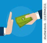 businessman hand refusing the... | Shutterstock .eps vector #1115944211