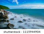beautiful long exposure... | Shutterstock . vector #1115944904