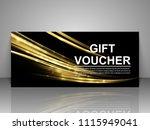 gift voucher template.   Shutterstock .eps vector #1115949041